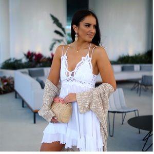 Free People Adella White Slip Dress NWT small